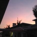 石垣空港の夕日