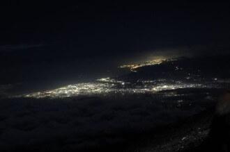 富士山からの夜景