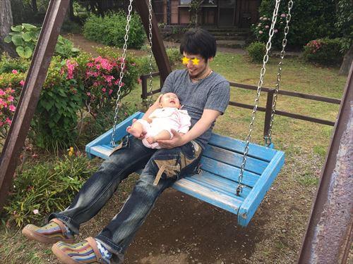 私と赤ちゃんinあじさい苑