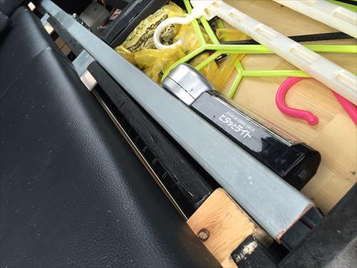 ハイエース車いす移動車スロープ収納