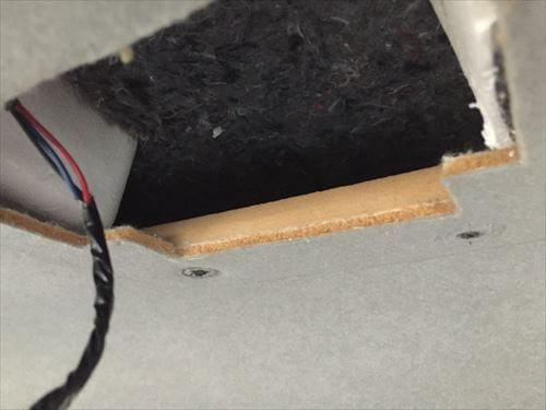 ハイエースにトッポBJ用のオーバーヘッドコンソール取り付け加工