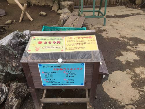 伊豆シャボテン公園のカンガルーの餌
