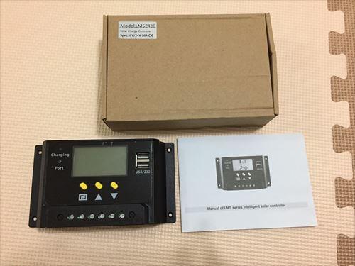 ソーラー充電のコントローラー1台目