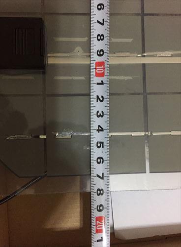 ソーラーパネルの採寸-横