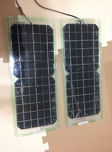 ソーラーパネルを加工