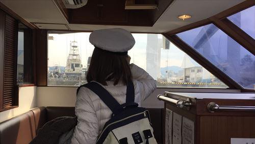 遊覧船ゆーみんフック号船内