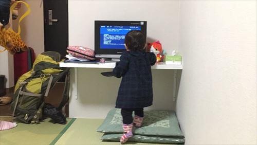 ロッジ・コロポックルの部屋TV