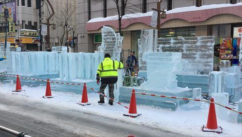 札幌雪まつりの準備
