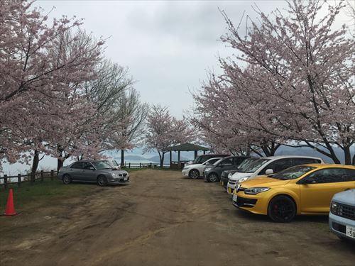 紫雲出山桜まつり-駐車場