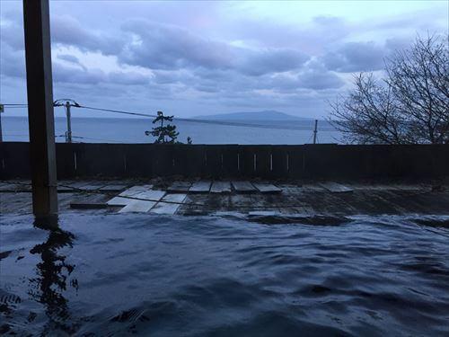 城ヶ崎海岸富戸温泉の露天風呂からの景色