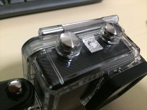 SJCAM-M20の防水ハウジングに穴開け