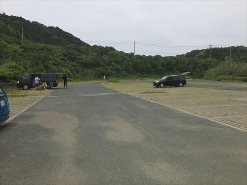 双海サーフビーチの駐車場