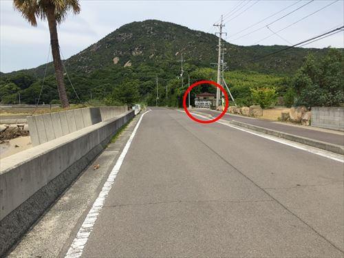 さぬき広島の海岸道路