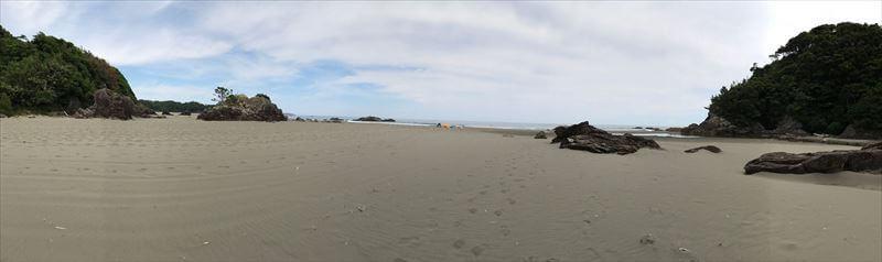 双海サーフビーチ-パノラマ