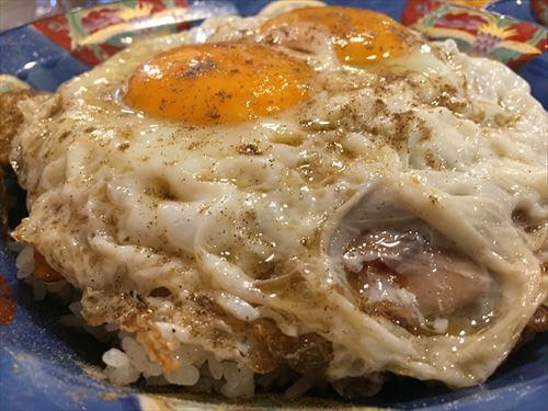 白楽天の焼豚玉子飯アップ