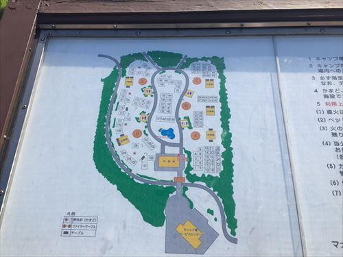 若洲公園キャンプ場案内地図