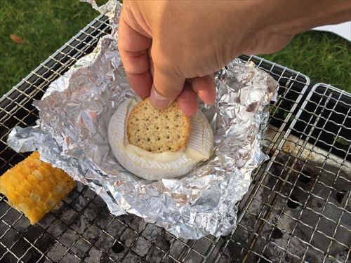 クッキーでチーズフォンデュ風