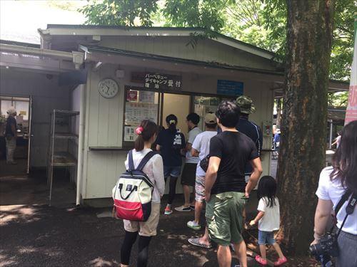 清水公園キャンプ場受付