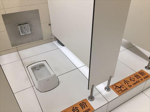 大連空港のトイレ