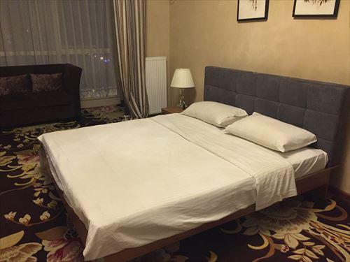 大連のホテルのベッド
