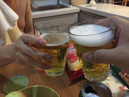 大連(中国)のホテルで乾杯