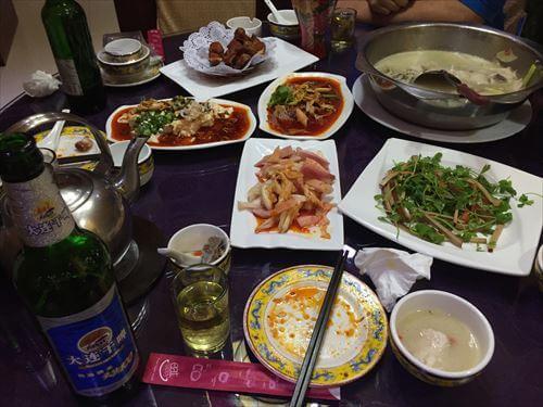 四川料理店の料理