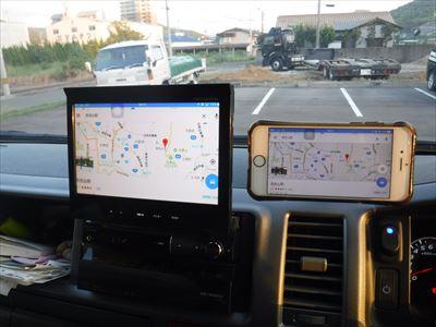 スマホのGoogleマップをカーナビモニターに無線で飛ばす