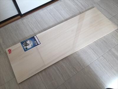 天板に使う桐材