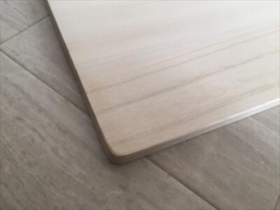 天板の面取り及び角丸化