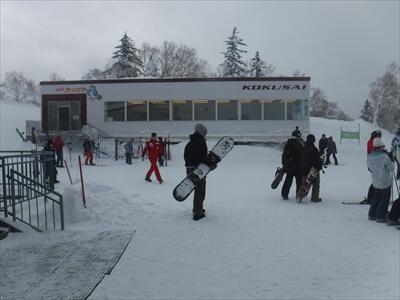 札幌国際スキー場の山頂ゴンドラ降り場にあるレストハウス『cafeカッコウ』