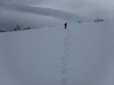 札幌国際スキー場のハイクアップコース山頂