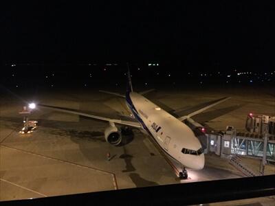 神戸空港の飛行機