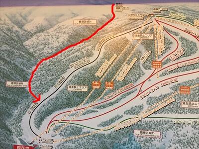 札幌国際スキー場のゲレンデマップ
