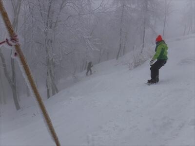 斑尾高原スキー場のアイスバーン