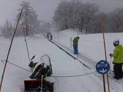 斑尾高原スキー場の動く歩道