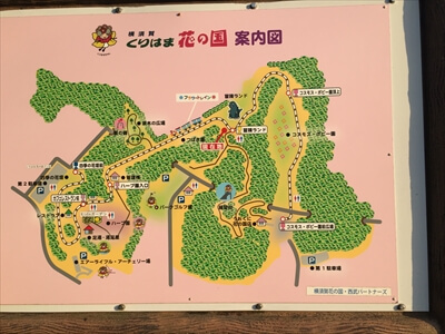 くりはま花の国の全体マップ