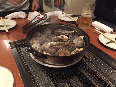 かき小屋 恵比寿-つきだしの牡蠣とはまぐり