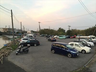 木更津市江川海岸の駐車場