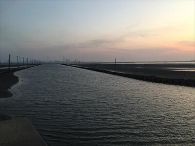 木更津市江川海岸のビュースポットと夕日