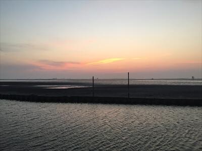 木更津市江川海岸の夕日