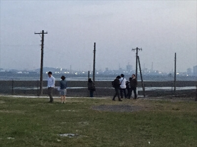 木更津市江川海岸のビュースポット-日本のウユニ塩湖に来た人たち