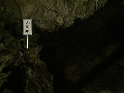 日原鍾乳洞内の大天井
