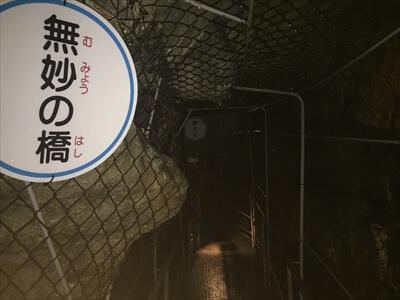 日原鍾乳洞内の無妙の橋