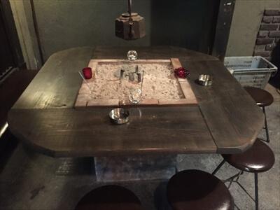 徳島県上勝町秘境バー『IRORI(いろり)』の囲炉裏