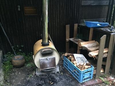 徳島県上勝町秘境バー『IRORI(いろり)』の薪風呂