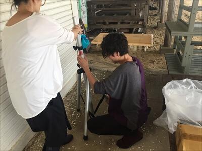 女木島の海の家『鬼旬』にDJブース設営