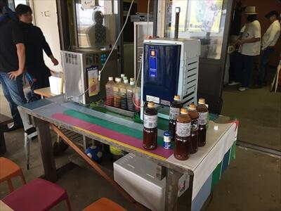 ビールサーバーやかき氷と焼肉のタレ