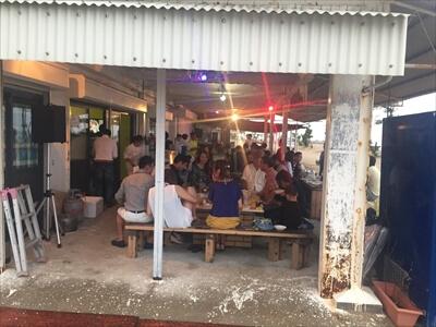 女木島のナイトバーベキューイベントをライトアップ