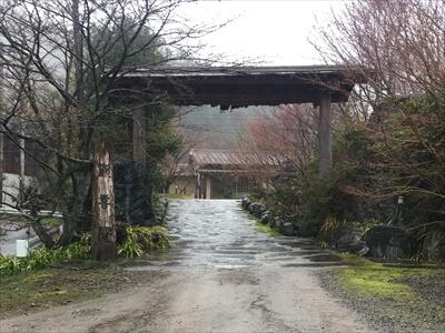 歓喜庵入り口の門
