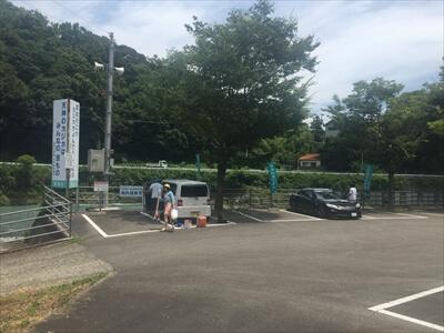 穴吹川-駐車場